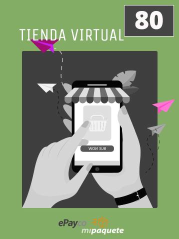 Venta de productos en línea. Tienda virtual con EPAYCO y MiPaquete instaladas. Vende en línea