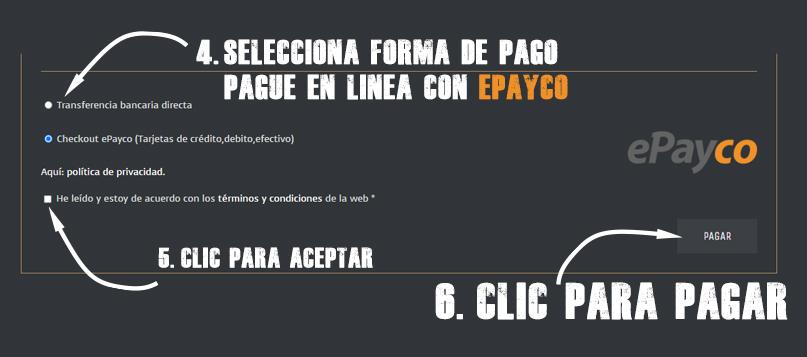 Pague en línea con EPAYCO. Hosting 5G dominio. COM y SSL